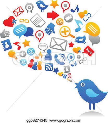 Media clipart clip art freeuse download Social Media Clip Art - Royalty Free - GoGraph clip art freeuse download