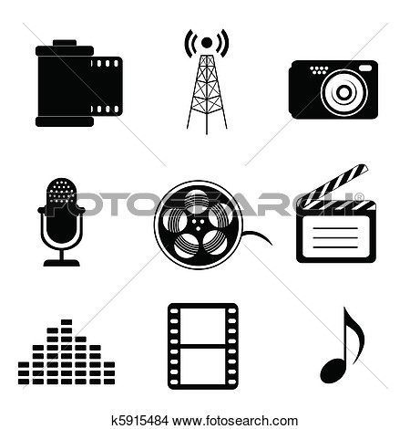 Media clipart svg royalty free library Mass media clip art - ClipartFest svg royalty free library