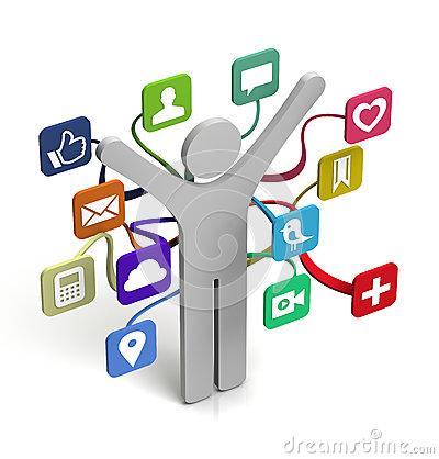 Media clipart vector free stock Social media clip art - ClipartFest vector free stock