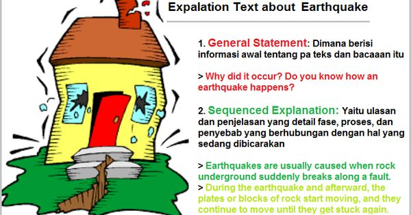 Media clipart berisi banner black and white Contoh Explanation Text: How Earthquake Happens | Learning English ... banner black and white