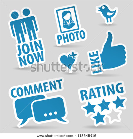 Media logo clipart jpg black and white library Social Media Icons Stock Images, Royalty-Free Images & Vectors ... jpg black and white library