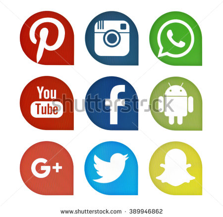 Media logo clipart free library Social Media Icons Stock Images, Royalty-Free Images & Vectors ... free library