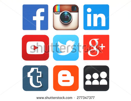 Media logo clipart vector freeuse Social Media Stock Images, Royalty-Free Images & Vectors ... vector freeuse