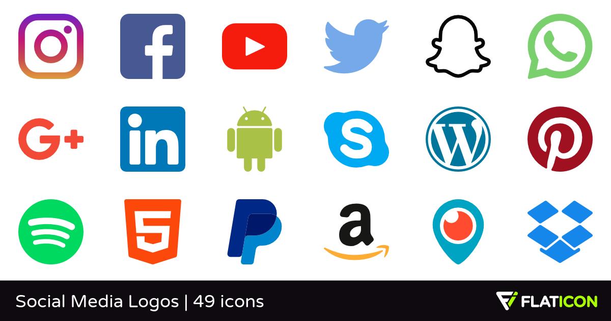Media logo clipart vector library library Social Media Logos 49 free icons (SVG, EPS, PSD, PNG files) vector library library