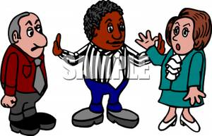 Mediator clipart black and white download A Cartoon of a Mediator and a Couple Arguing - Royalty Free Clipart ... black and white download