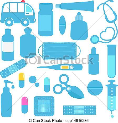 Medical artwork clipart picture royalty free download Vectors of Medicines, Pills, Medical Equipment - Cute vector icons ... picture royalty free download