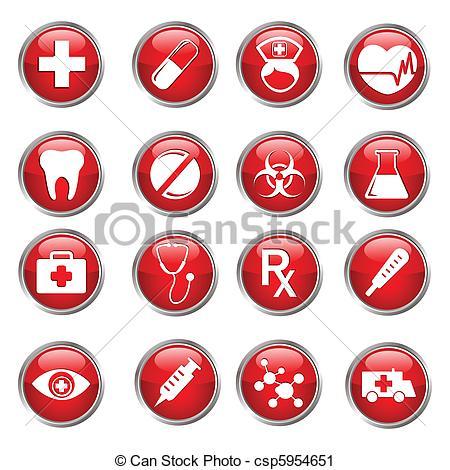 Medical artwork clipart free download Vector Clip Art of Medical Icon Set - illustration of set of ... free download