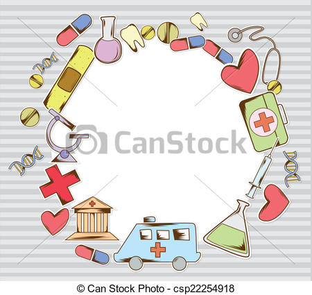 Medical artwork clipart clip Vector Clip Art of frame medical equipment csp22254918 - Search ... clip