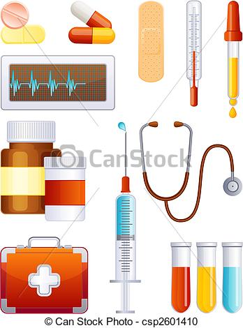 Medical artwork clipart png free stock Vector Clipart of Medicine icon set - Vector illustration ... png free stock