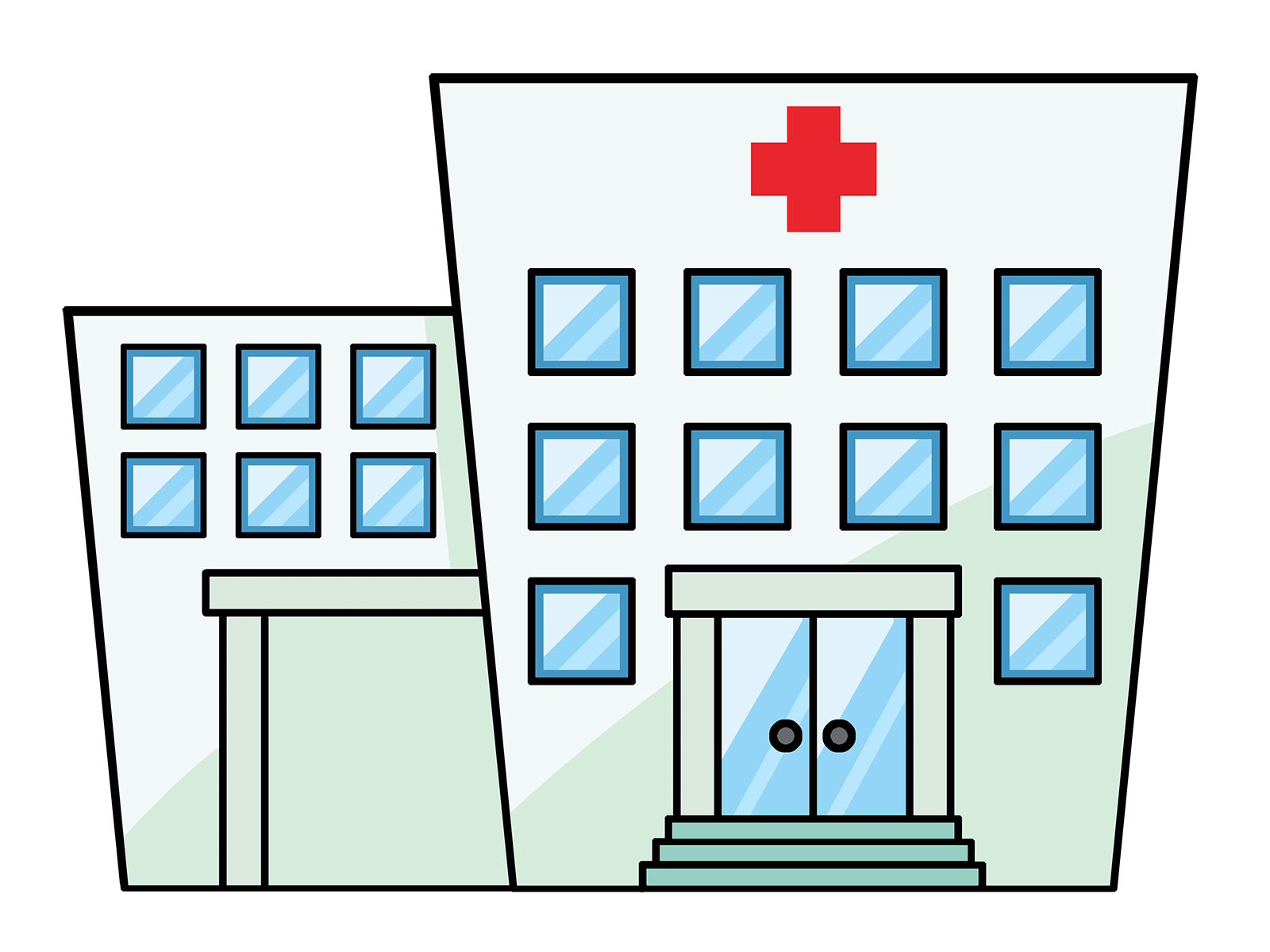 Medical building clipart svg library library Transparent building clipart - ClipartFest svg library library