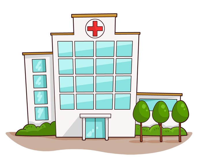 Medical building clipart black and white download Medical Building Clipart - Clipart Kid black and white download
