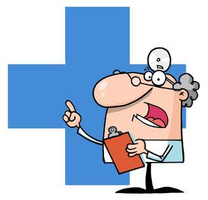 Medical cartoon clipart clip transparent library Doctor Cartoon Clipart Image - Cartoon Doctor or Medical Researcher ... clip transparent library
