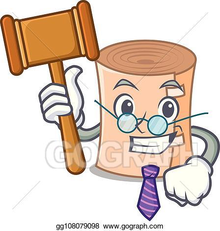 Medical gauze clipart clip art royalty free library Vector Illustration - Judge medical gauze mascot cartoon ... clip art royalty free library