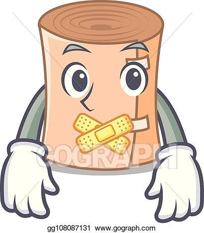 Medical gauze clipart png free stock EPS Vector - Silent medical gauze mascot cartoon. Stock ... png free stock