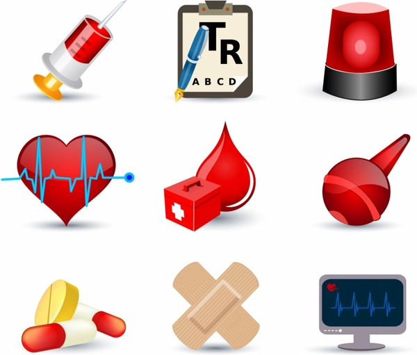 Medical icon clipart vector transparent stock Medical icons Free vector in Adobe Illustrator ai ( .AI ... vector transparent stock