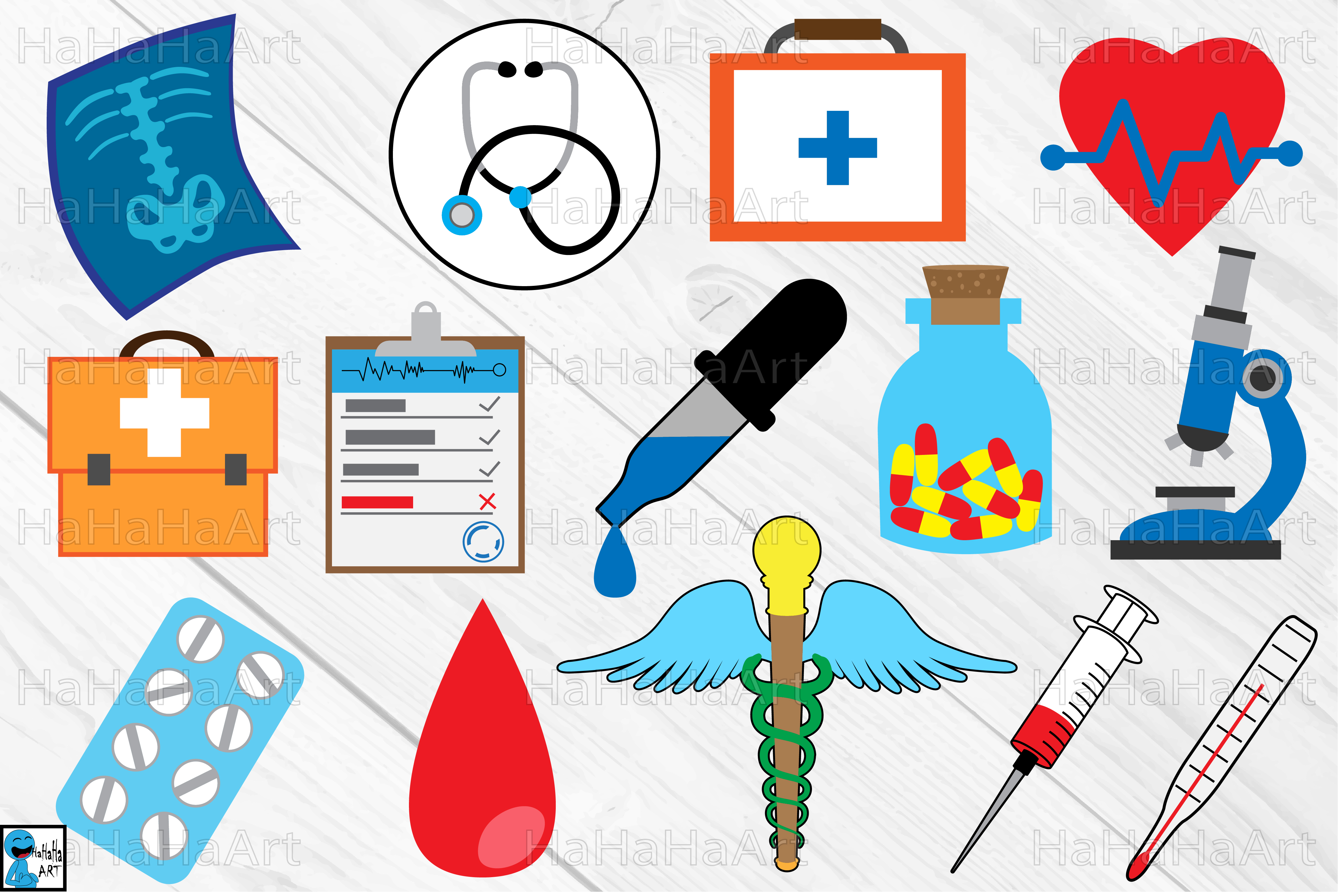 Medical products clipart clipart black and white library Doctor and Medical designs - Clipart Cutting files -1c clipart black and white library