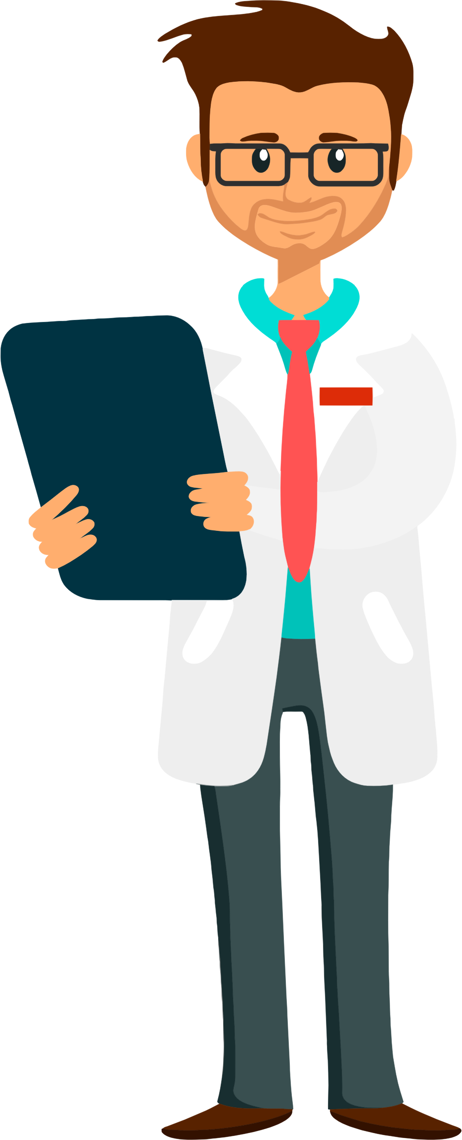 Medical school clipart picture black and white library Clipart - Doctor Holding Clipboard picture black and white library