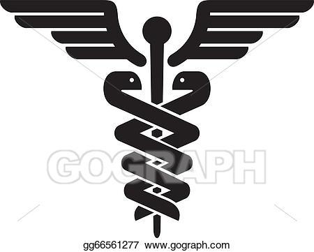 Medical sign clipart clip free stock Vector Clipart - Caduceus medical symbol. Vector Illustration ... clip free stock