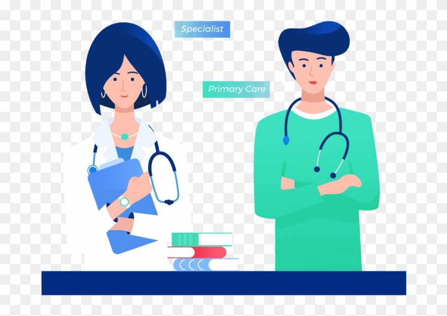 Medical specialist clipart banner library Specialist Standing With Primary Care Doctor - Physician Clipart ... banner library
