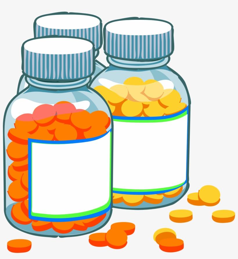 Medicine vector clipart png library stock Blank Medicine Bottles Clip Art At Clker Com Vector - Medicine Log ... png library stock