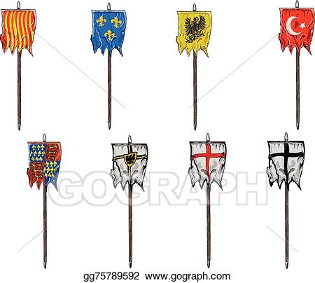Medieval banner clipart