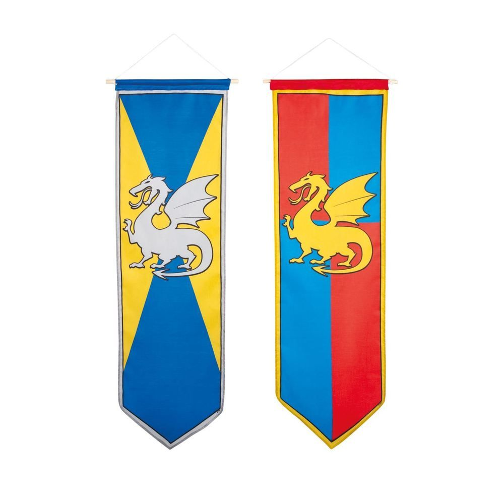 Medieval banner hanging from a pole clipart jpg free stock Details about Medieval Knights and Dragons: Banner Medieval Dragon ... jpg free stock