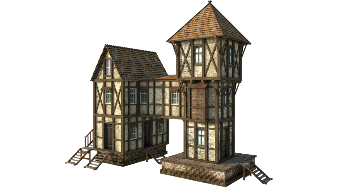 Serf house medieval times clipart clip art transparent stock Medieval House by fumar-porros on DeviantArt | Art & Design: 3d ... clip art transparent stock