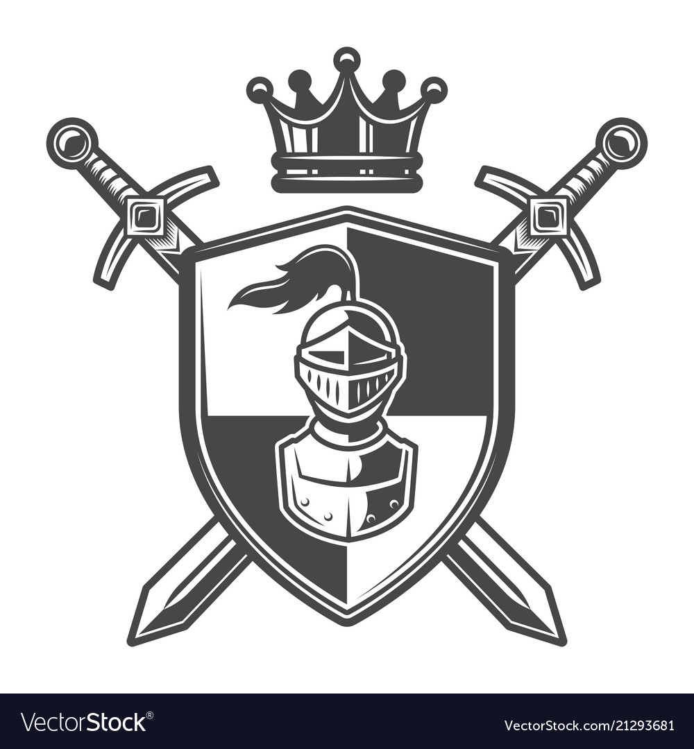 Medieval knights coat of arms black and white free clipart graphic royalty free library Vintage monochrome knight coat of arms graphic royalty free library
