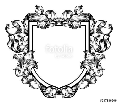 Medieval knights coat of arms black and white free clipart black and white library A coat of arms crest heraldic medieval knight or royal family shield ... black and white library