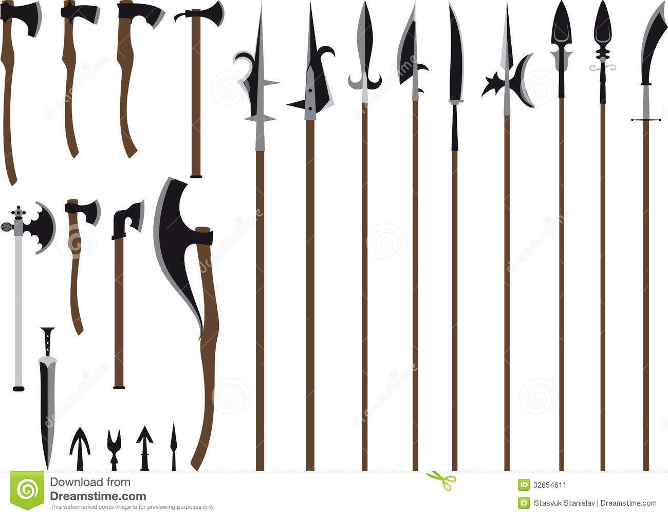 Medieval weapons clipart clip art download spears weapon - Google Search | Weapon Ideas | Medieval weapons ... clip art download