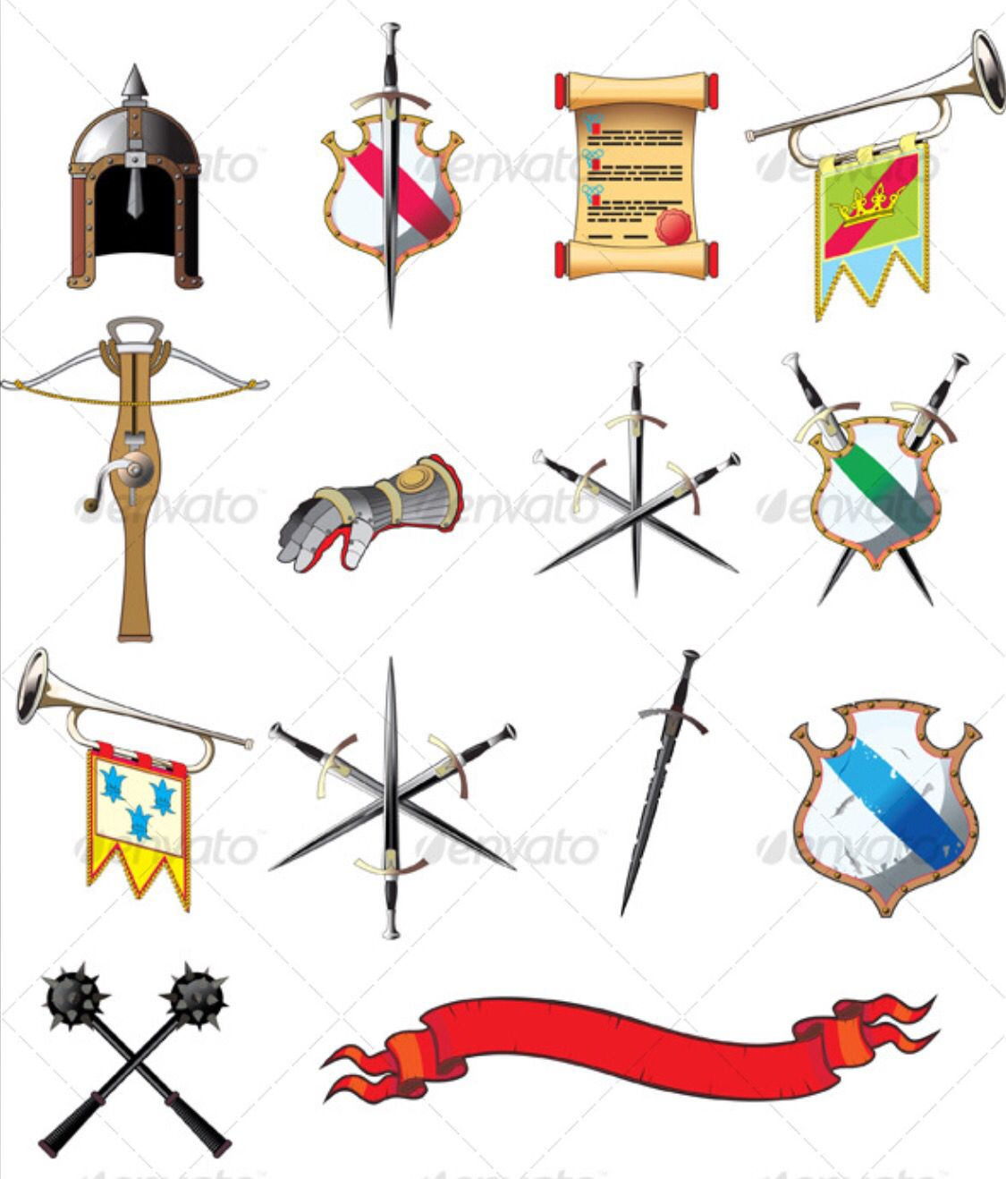 Medieval weapons clipart banner library Medieval icons -- inspiration for clay stamps | Medieval Faire ... banner library