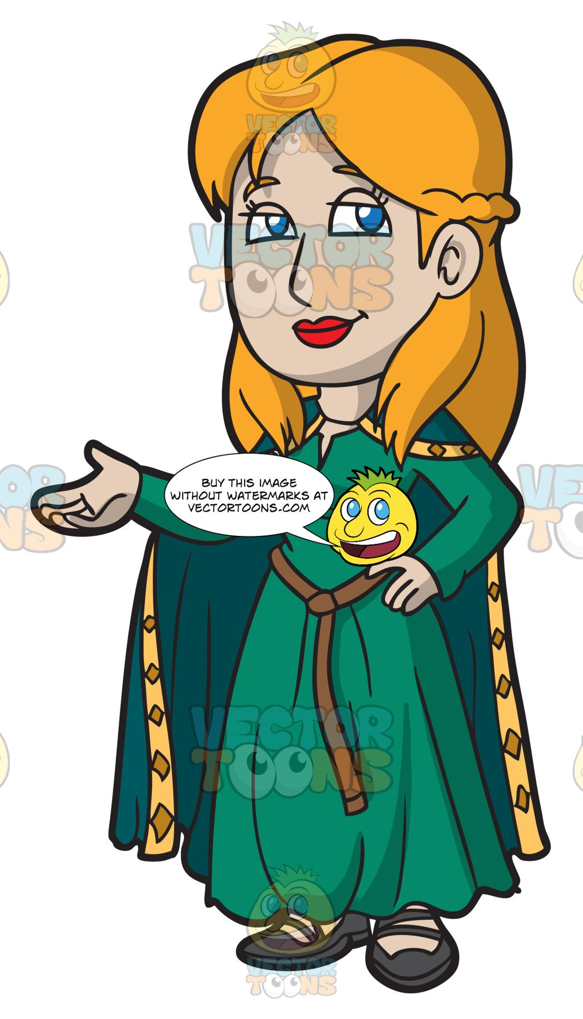 Medieval woman clipart png freeuse stock A Friendly Medieval Woman png freeuse stock