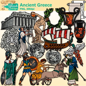 Mediterranean sea clipart image royalty free library Ancient Greece Clip Art: Mediterranean Sea Civilization {Glitter Meets Glue} image royalty free library