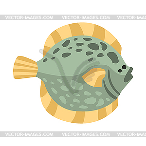 Mediterranean sea clipart graphic transparent Flat Flounder Fish, Part Of Mediterranean Sea Marin - stock ... graphic transparent