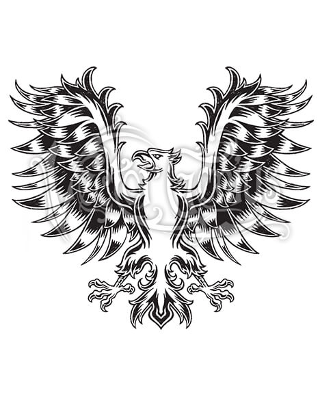 Medival clipart vector Classic Tattoo Medieval Eagle Wings ClipArt vector