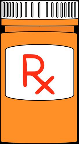 Meds clipart image Prescription medicine bottle | Public domain vectors image
