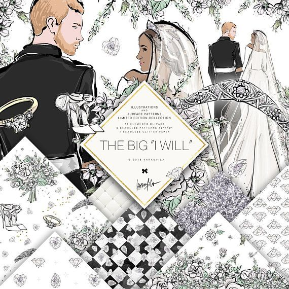 Meghan clipart picture transparent download Prince Harry and Meghan Markle Wedding Clipart | Karamfilas ... picture transparent download
