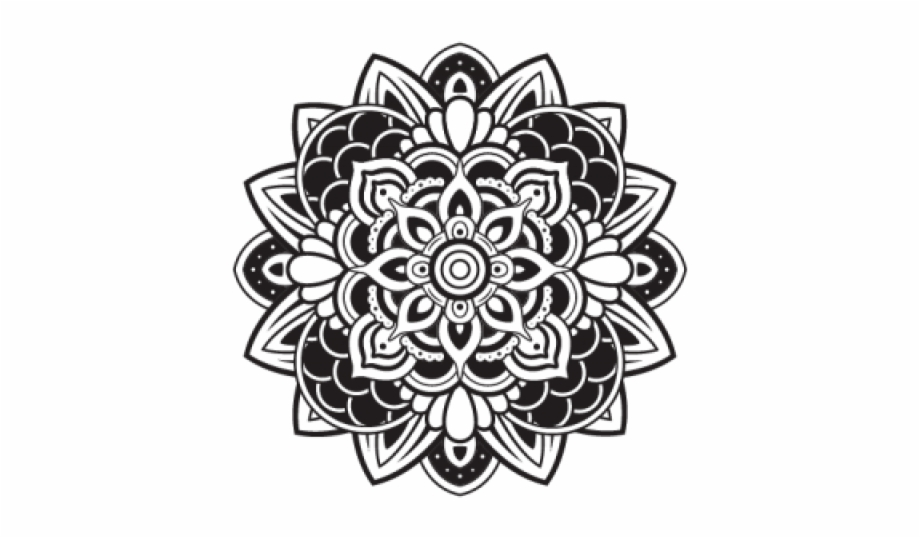 Mehndi clipart clip art black and white stock Flower Mehndi Design Png Free PNG Images & Clipart Download ... clip art black and white stock