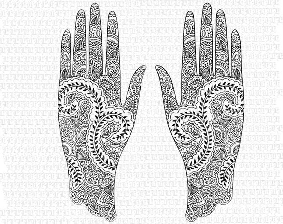 Mehndi clipart png freeuse library Digital Collage Sheet Hindu Mehndi Design Pattern Henna ... png freeuse library