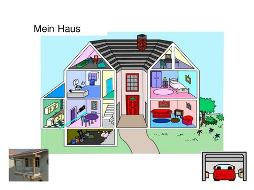 Mein haus clipart jpg royalty free download Free! Mein Haus - German House Vocabulary Powerpoint   World ... jpg royalty free download