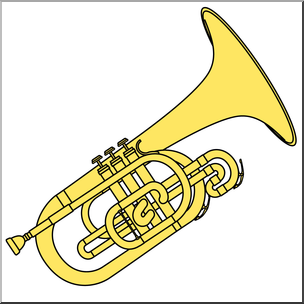 Mellophone clipart clipart free stock Clip Art: Mellophone Color I abcteach.com   abcteach clipart free stock