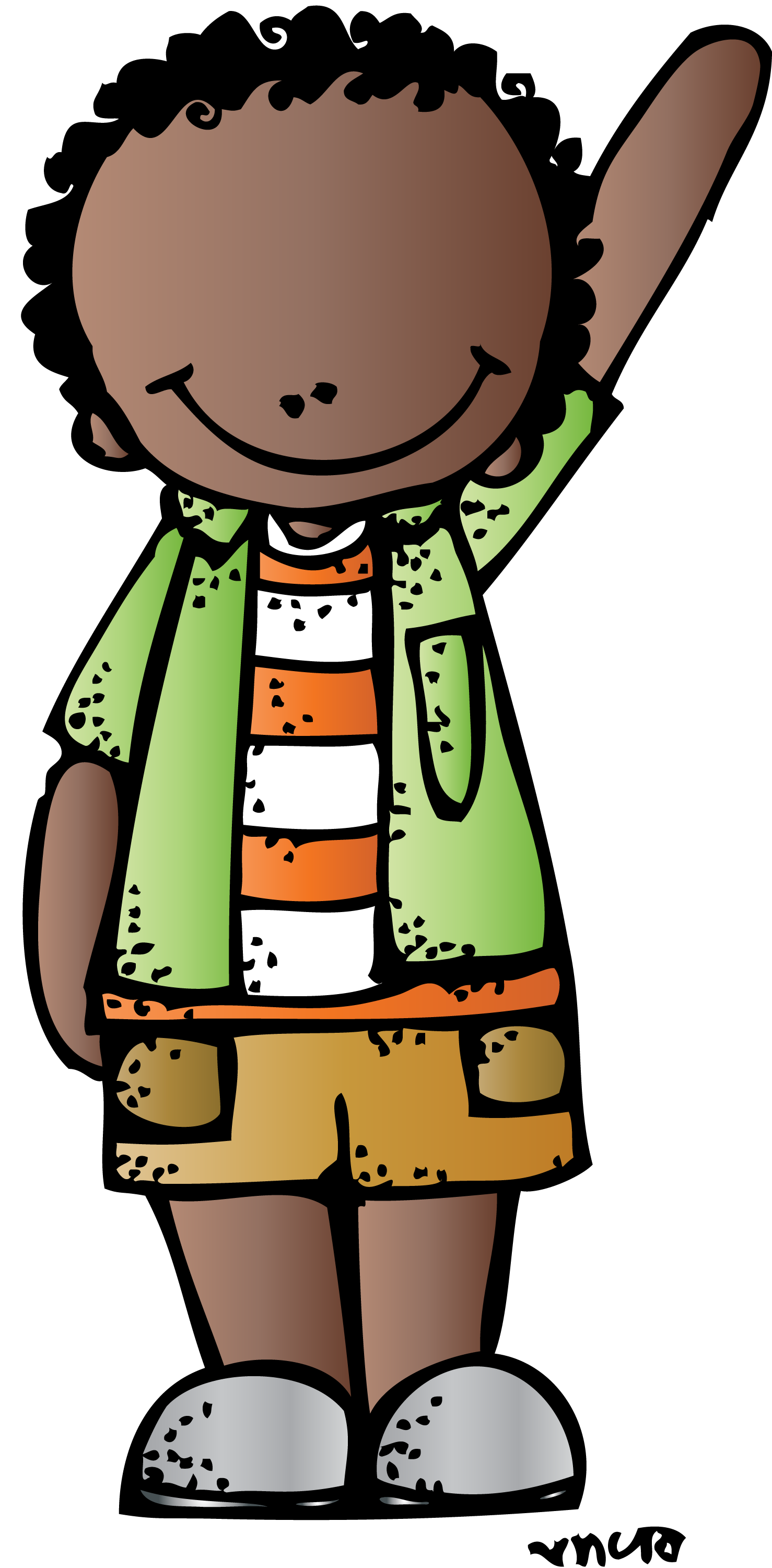 Melonheadz Student Clipart - Hanslodge Cliparts graphic black and white library