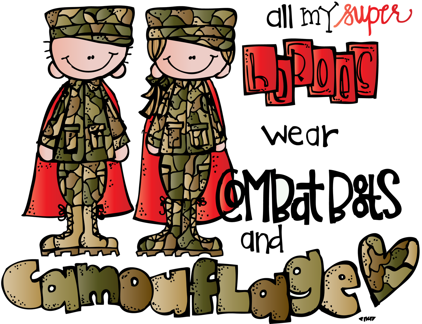 Military Clipart Melonheadz#3712754 clipart black and white download