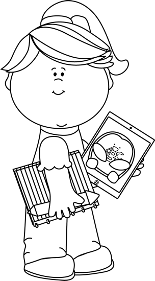 Melonheadz clipart black and white school supplies clip art free stock School supplies clip art black and white clipart images ... clip art free stock