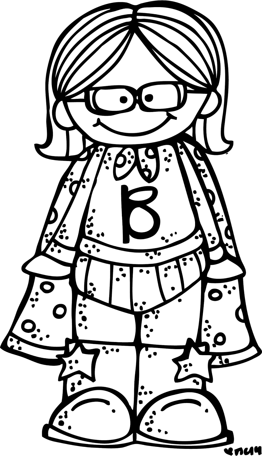 Melonheadz kids superhero clipart black and white png black and white Melonheadz Illustrating Meet Baylee!!! I love this website for all ... png black and white
