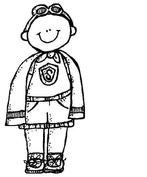 Melonheadz kids superhero clipart black and white graphic free download MelonHeadz: Super Heroes graphic free download