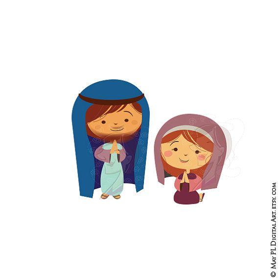 Melonheadz mary joseph jesus clipart svg royalty free Mary and joseph clipart - ClipartFest svg royalty free