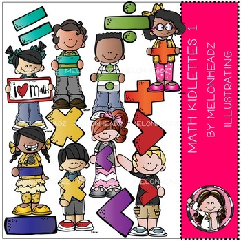 Melonheadz math clipart vector black and white Math Kidlettes 1 clip art - by Melonheadz vector black and white