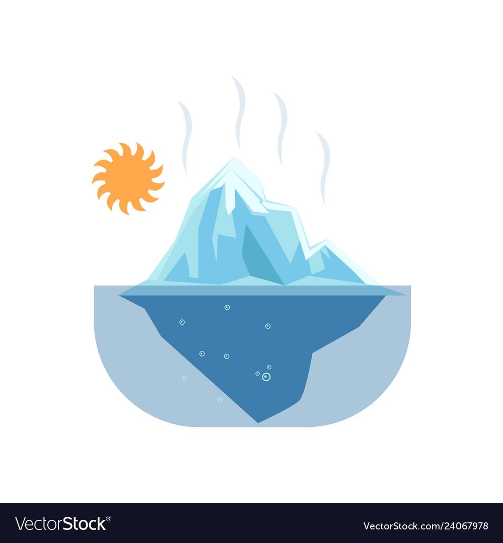 Melting glacier clipart svg royalty free Melted glaciers under hot sun such problem global svg royalty free