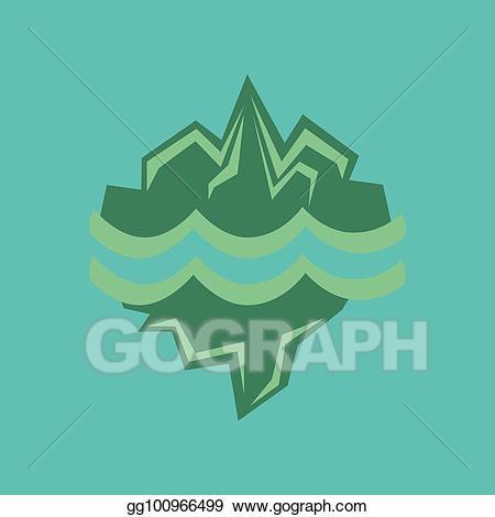 Melting glacier clipart png transparent download Vector Illustration - Flat icon on stylish background melting ... png transparent download
